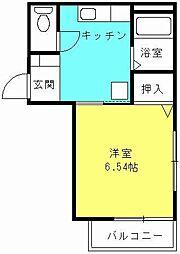 兵庫県西宮市今津水波町の賃貸アパートの間取り