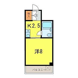 第3マンション久米[4階]の間取り