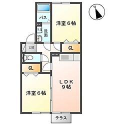 ホクトA[2階]の間取り