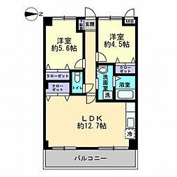 香川県高松市観光町の賃貸アパートの間取り