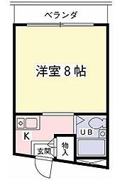 東京都世田谷区桜丘1丁目の賃貸マンションの間取り