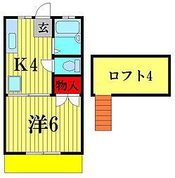 メゾンクレスト[1階]の間取り
