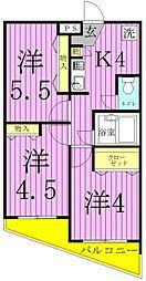カスタム千寿[3階]の間取り