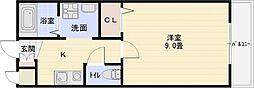 クレパレス1[1階]の間取り
