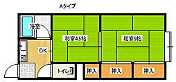 メゾン北加賀屋[1階]の間取り