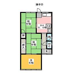[一戸建] 愛知県岩倉市本町門前 の賃貸【/】の間取り
