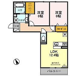 新築・都市ガスSaisonnier〜セゾニエ〜[3階]の間取り