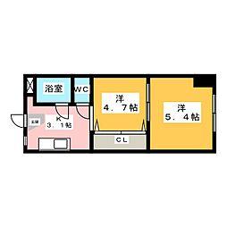 城東アメニティマンション[3階]の間取り