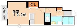 メゾンボヌールA[1階]の間取り