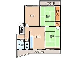 コーポ岡崎[3階]の間取り