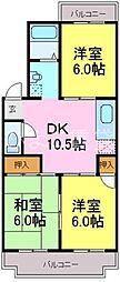 長谷川ビル[A2B号室]の間取り