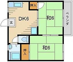 第1・2上田ハイツ[1階]の間取り