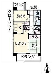 サンコート桃花台 A棟[1階]の間取り