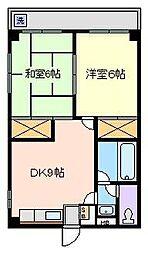 コーポTANAKA[3階]の間取り