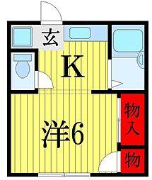 入江ハイツ[2階]の間取り
