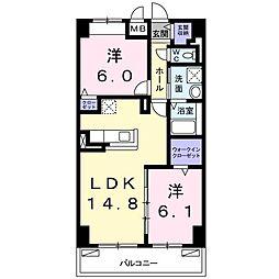 畑田町店舗付マンション[0608号室]の間取り