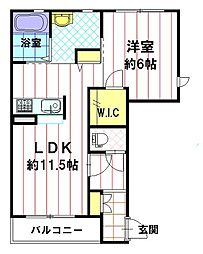 メゾン・ド・アプリコ[1階]の間取り