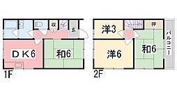 [一戸建] 兵庫県姫路市田寺 の賃貸【/】の間取り