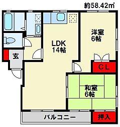 KAKU BLD[3階]の間取り