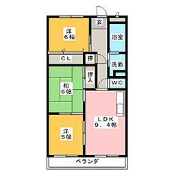 Rapport桜台[1階]の間取り