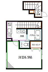 東京メトロ丸ノ内線 南阿佐ヶ谷駅 徒歩4分の賃貸アパート 2階1Kの間取り