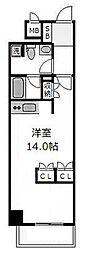 南堀江アパートメントシエロ[13階]の間取り