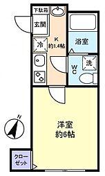 ヒルズ勝田台[1階]の間取り