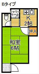 タカオカマンション[2階]の間取り