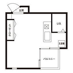 A2ビル[414号室]の間取り