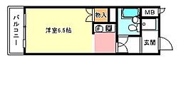 レジデンスサザン[5階]の間取り