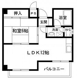 第5タナカビル[6階]の間取り