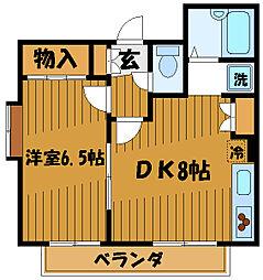 東京都国分寺市本多2丁目の賃貸アパートの間取り