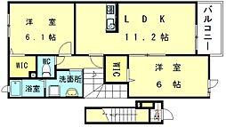 ジェルメメゾン雁ノ巣II[2階]の間取り