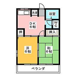 レトアI[1階]の間取り