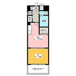 イルマーレ博多[7階]の間取り