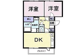 プレンティナカヤマ[1階]の間取り