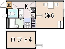 レオパレスサンシャイン田中21[1階]の間取り