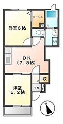 三重県松阪市小舟江町の賃貸アパートの間取り