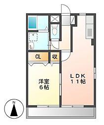 レトアK2[1階]の間取り