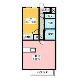 仮)北川様ルーチェ[2階]の間取り