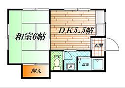 辻アパート[201号室]の間取り