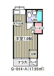 千葉県市川市新井3の賃貸アパートの間取り