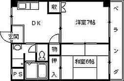 兵庫県西宮市宮西町の賃貸マンションの間取り