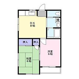 神谷アパート[6号室]の間取り