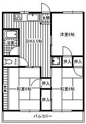 大田庚午ビル[4階]の間取り