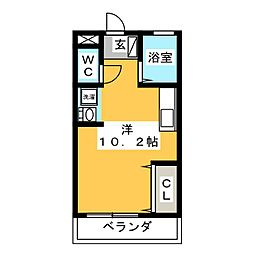 BASIC IR 2階ワンルームの間取り