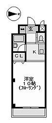 キャスティル1[2階]の間取り