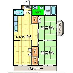 コーポエンゼル[4階]の間取り