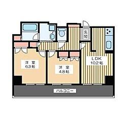 東京都品川区大崎5丁目の賃貸マンションの間取り
