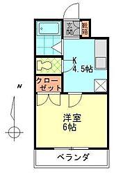 シャトレ原新町[1階]の間取り